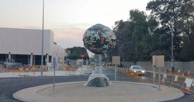 Terminan la nueva rotonda de la Gran Avenida de Benicàssim