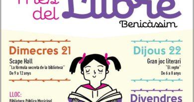 Organizan juegos y talleres por el Día del Libro en Benicàssim