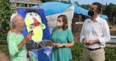 Ripollés elige Benicàssim para exponer pintura 40 años después
