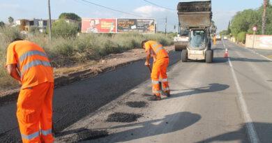 Inician el asfaltado del nuevo camino peatonal del Serradal de Benicàssim